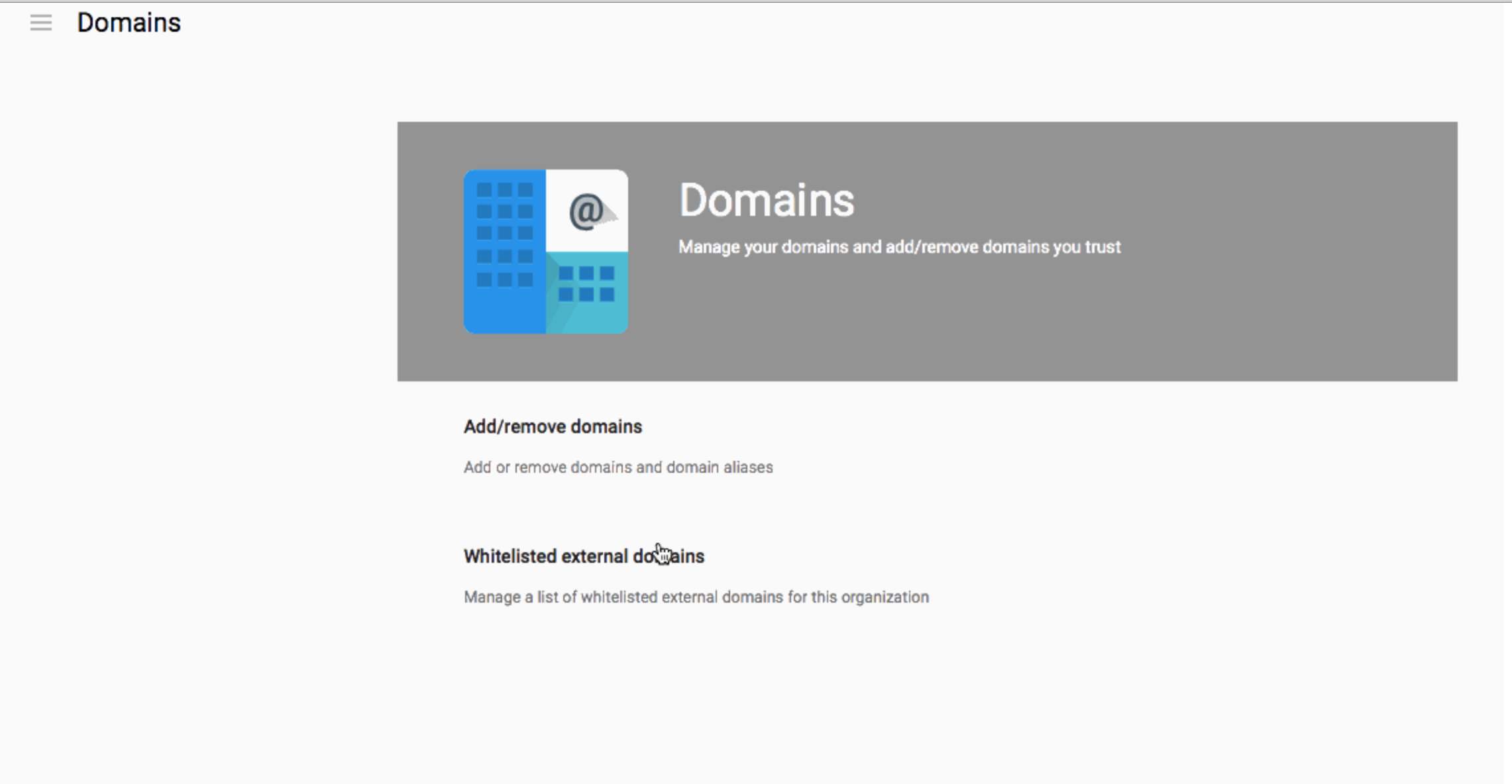 Google Apps customers can now whitelist external domains for