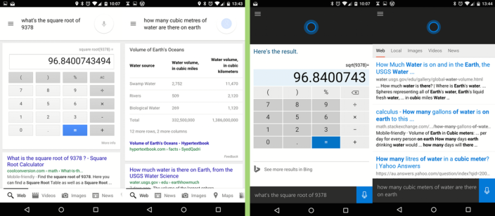 Trivia on Google Now vs. Cortana