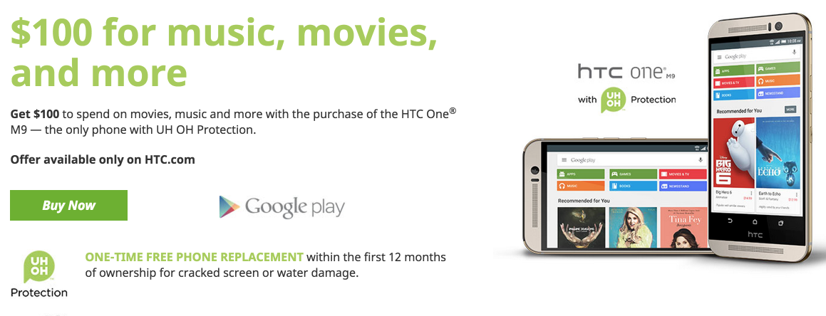 $100 Google Play™ Credit | HTC United States 2015-08-24 14-06-01