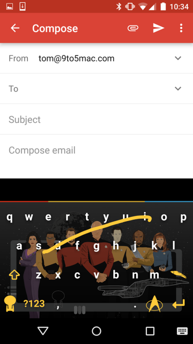 Swype for Android receives Star Trek keyboard themes + new