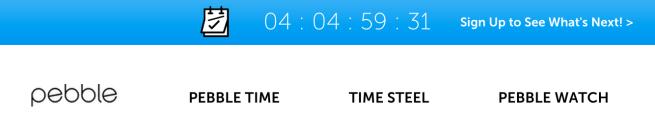 Pebble-countdown-timer