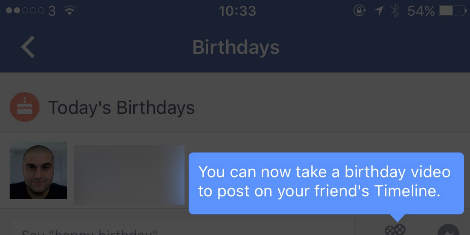 Facebook birthday videos