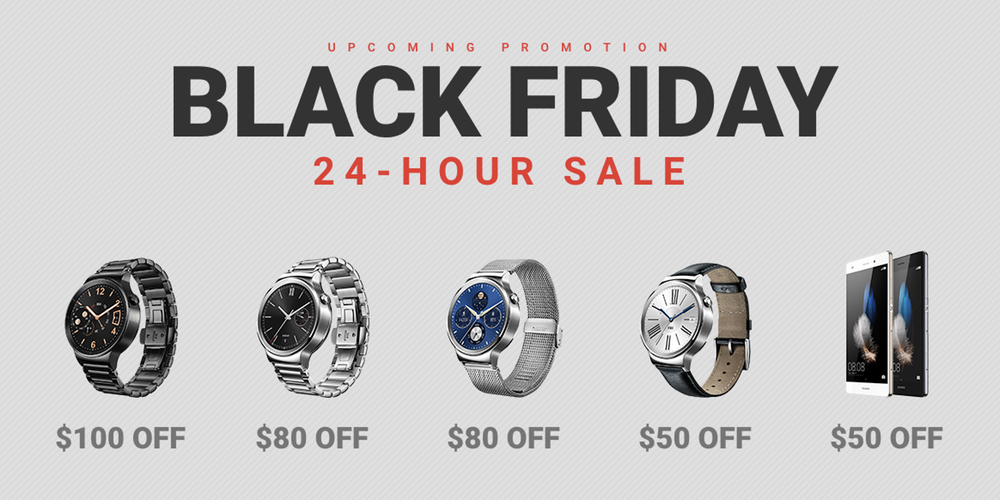 Get Up To 100 Off Huawei Watch In Company S Black Friday Promotion 9to5google