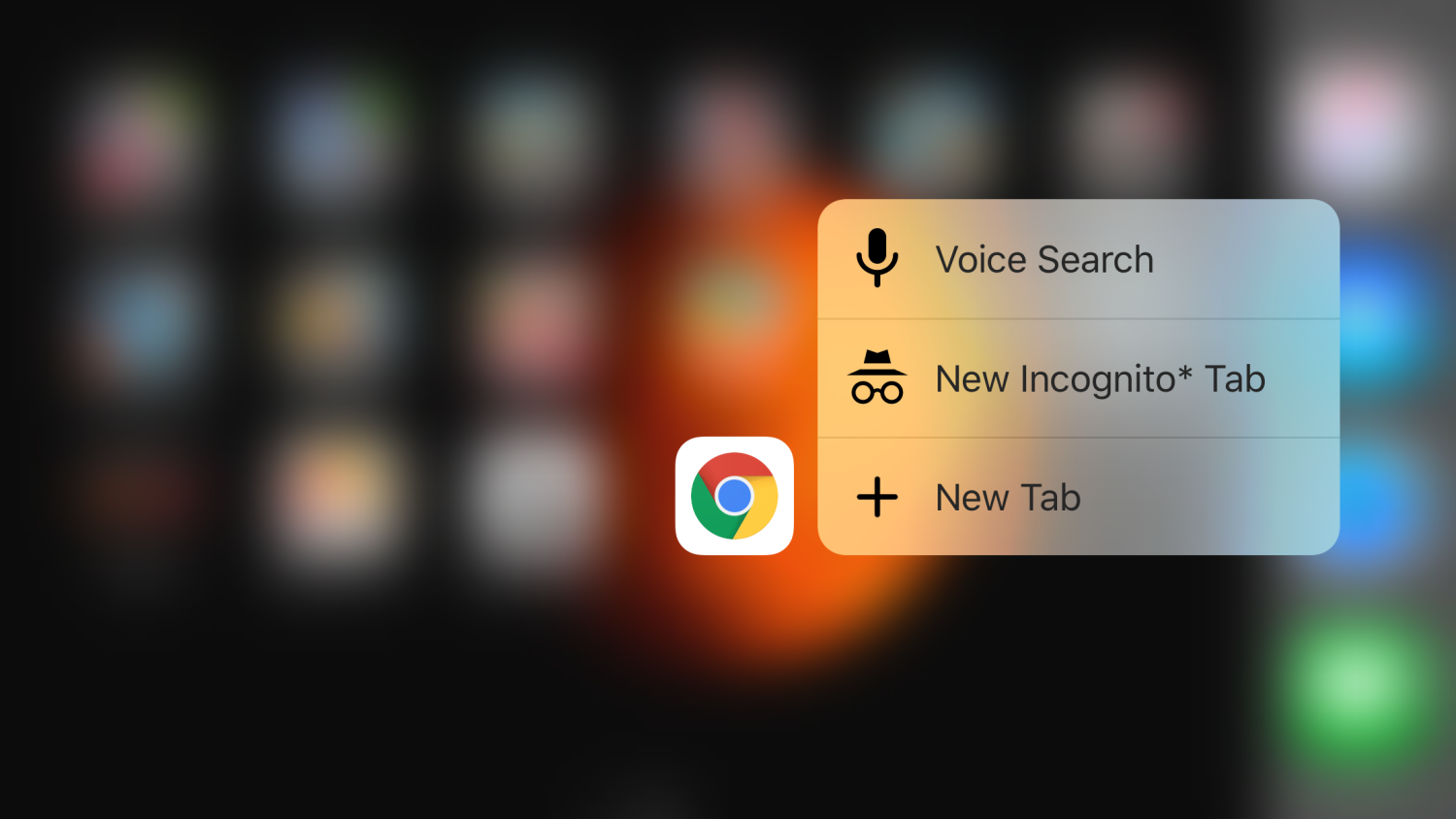 Chrome 3D Touch