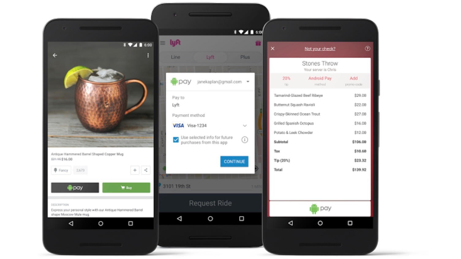 Android Pay in app payments