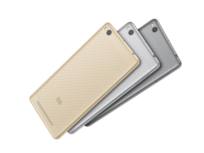 Xiaomi Redmi 3 official, features compact diamond-patterned metal body, huge 4,100mAh battery, costs just $105