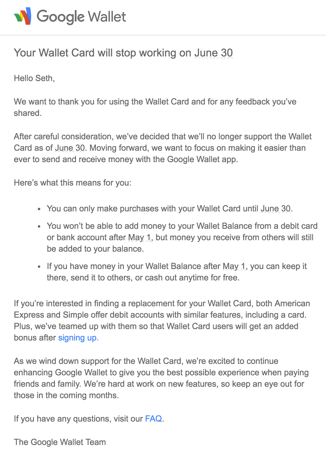 App teardown suggests that the Google Wallet card is going