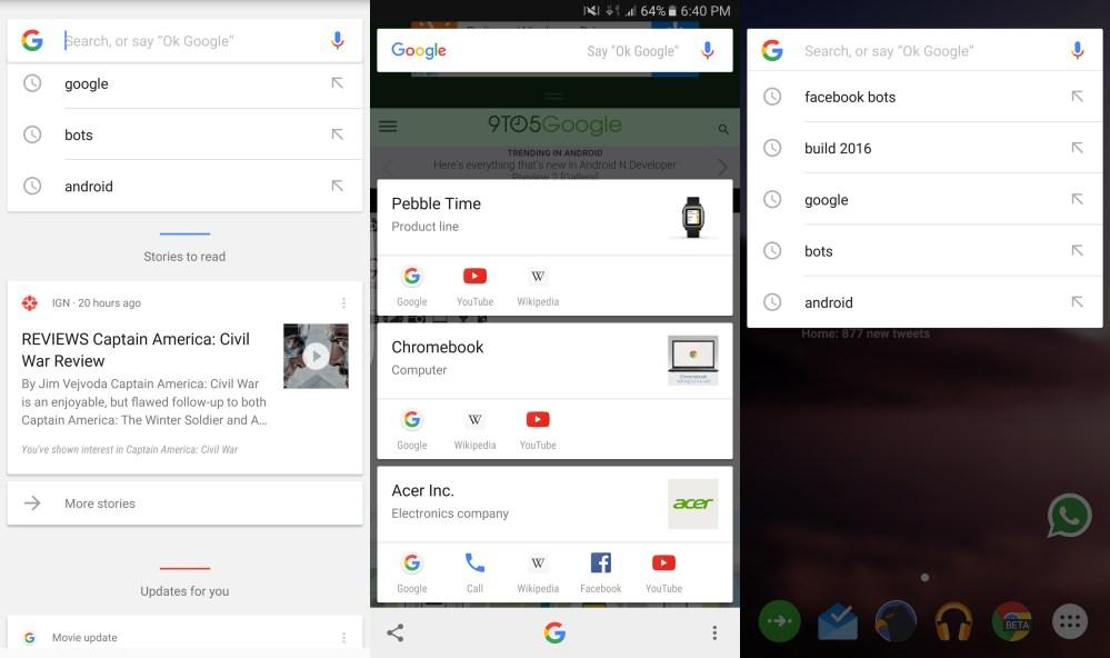 Google Now Bots