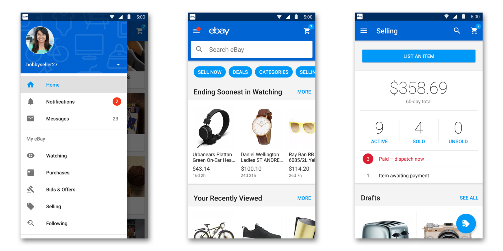 Ebay Refreshing Mobile Apps With Updated Design Speed Improvements 9to5google