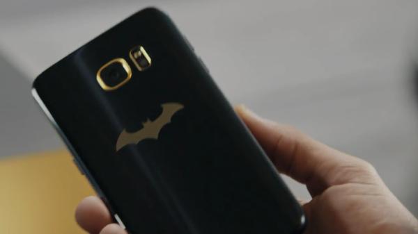 Samsung's Batman-themed Galaxy S7 Edge includes a gold