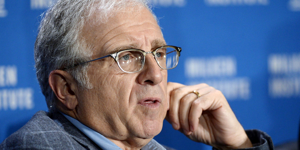 Irving Azoff, Chairman and CEO of Azoff MSG Entertainment, speaks during The Evolution of Music and the Music Consumer session at the 2014 Milken Institute Global Conference in Beverly Hills, California April 29, 2014. REUTERS/Kevork Djansezian (UNITED STATES - Tags: BUSINESS)
