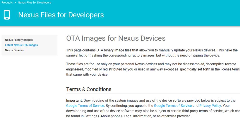 nexus-ota-images