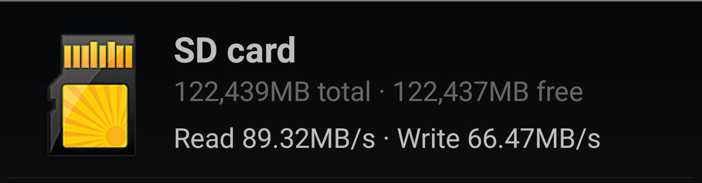 Lexar microSD A1 benchmark