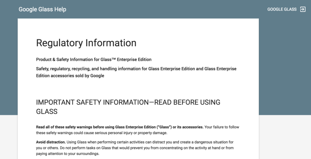 Regulatory Information - Google Glass Help 2016-06-24 12-36-21