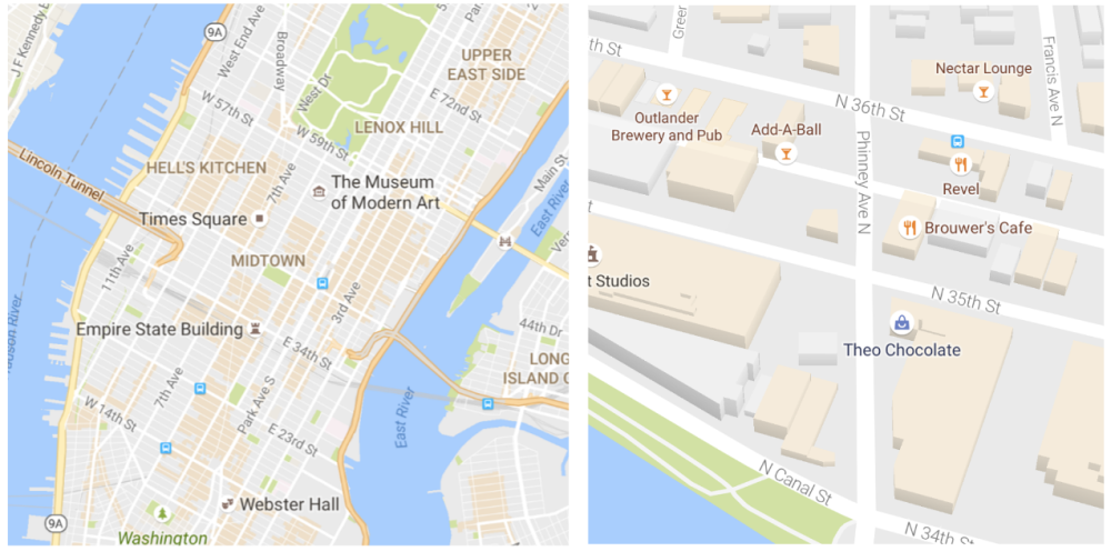 google-maps-points of interest