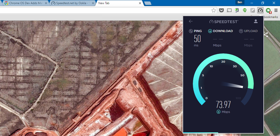 How to use speedtest chrome extension