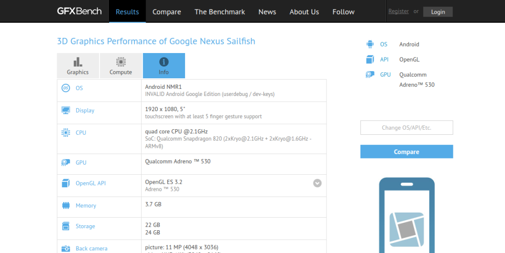 nexus-sailfish-benchmarks