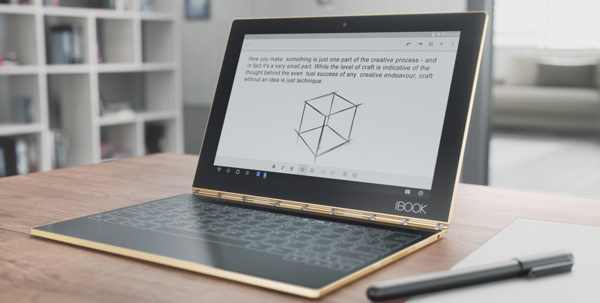 Lenovo Introduces The Yoga Book An Android 2 In 1 With A Unique Keyboard And Slim Design Video 9to5google