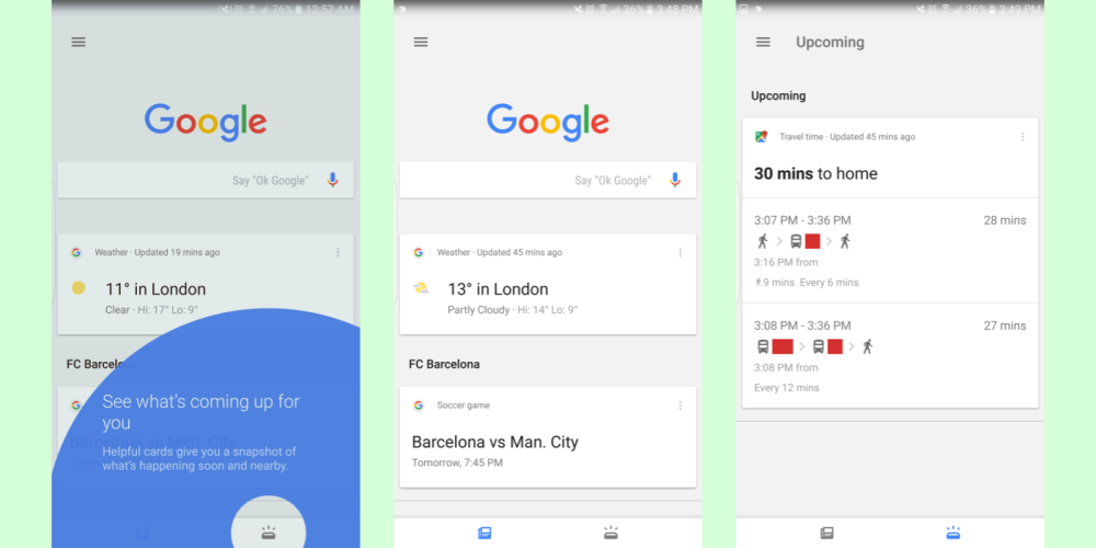 google-app-upcoming-tab