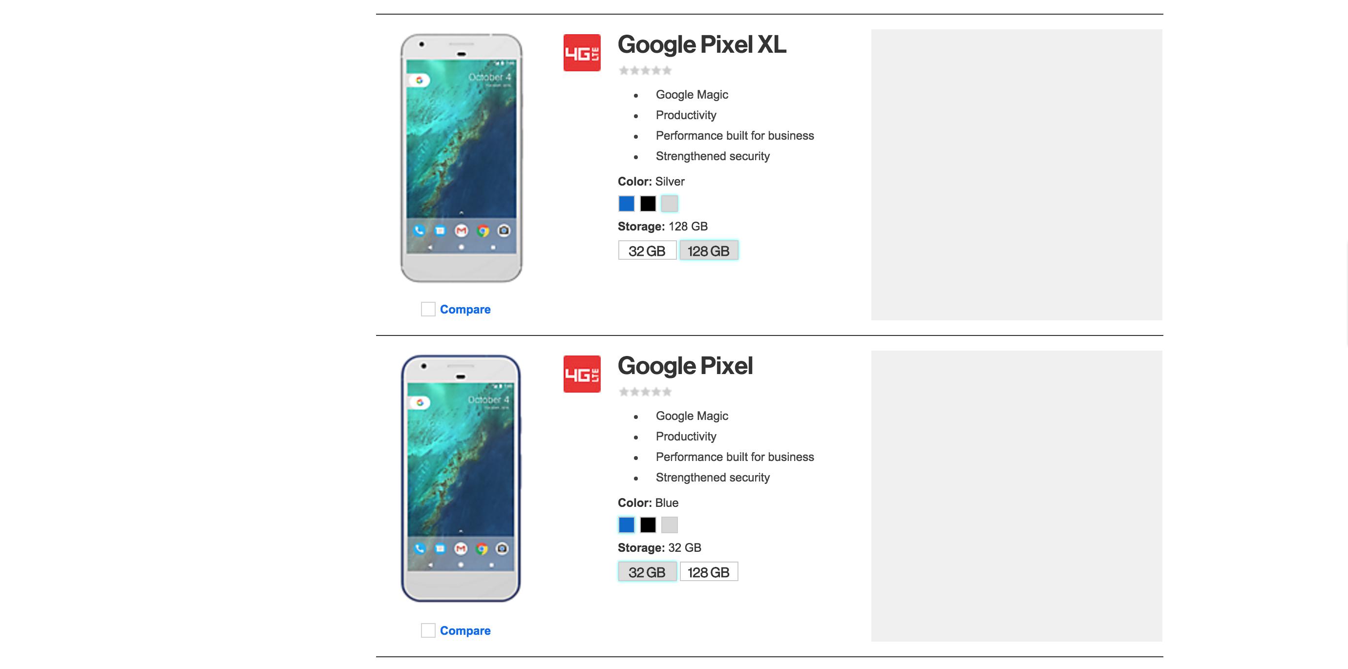 Google Pixel Verizon Leak