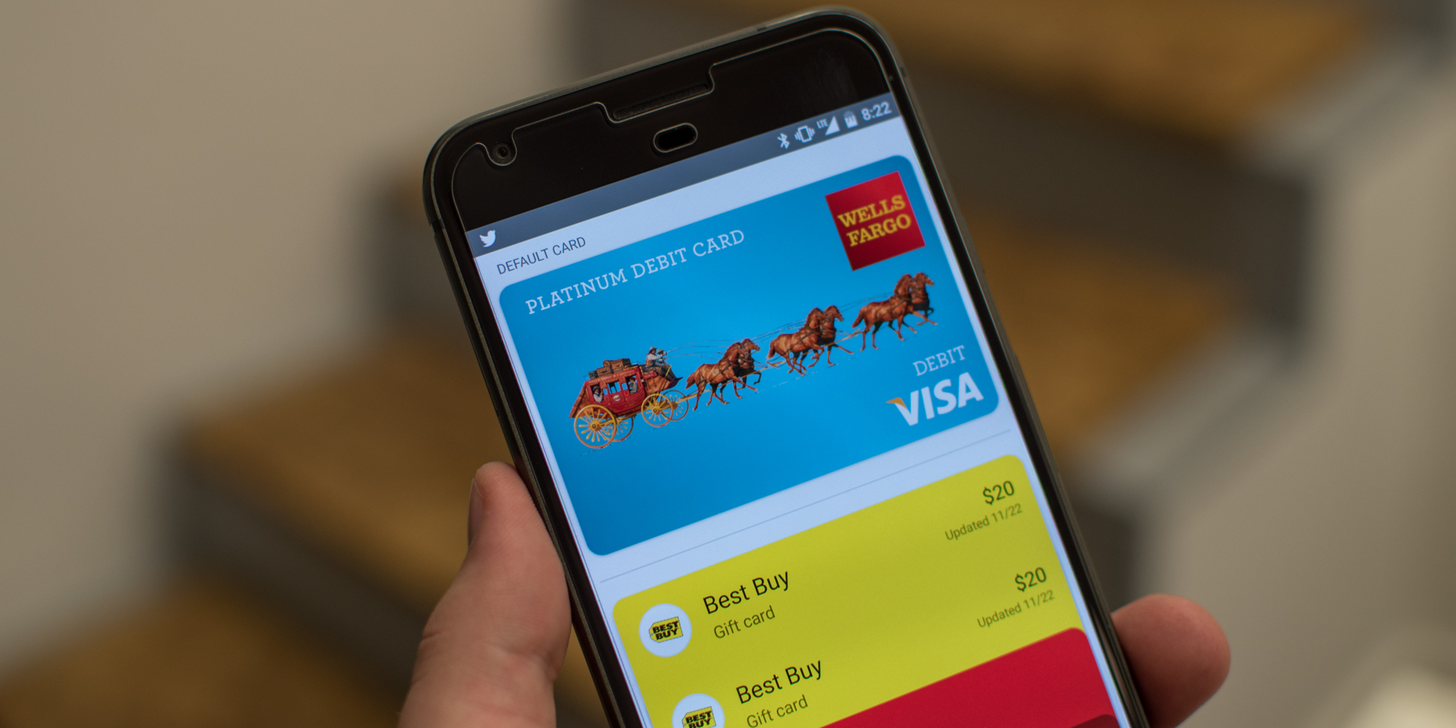 Android Pay Add Credit Debit Card
