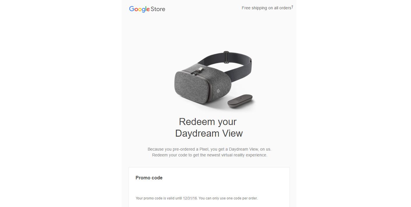 Daydream View Promo Code