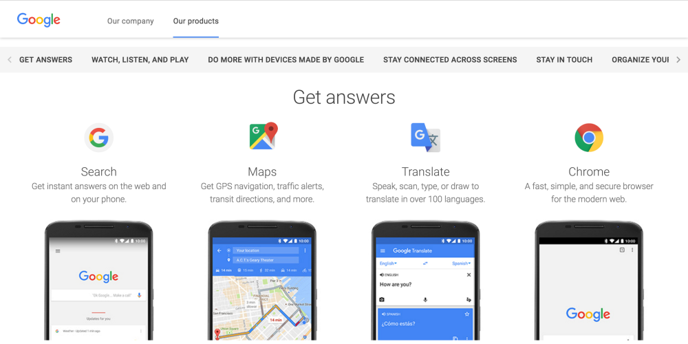 google-our-products