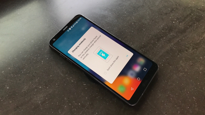 LG G6 Wirelessly Charging