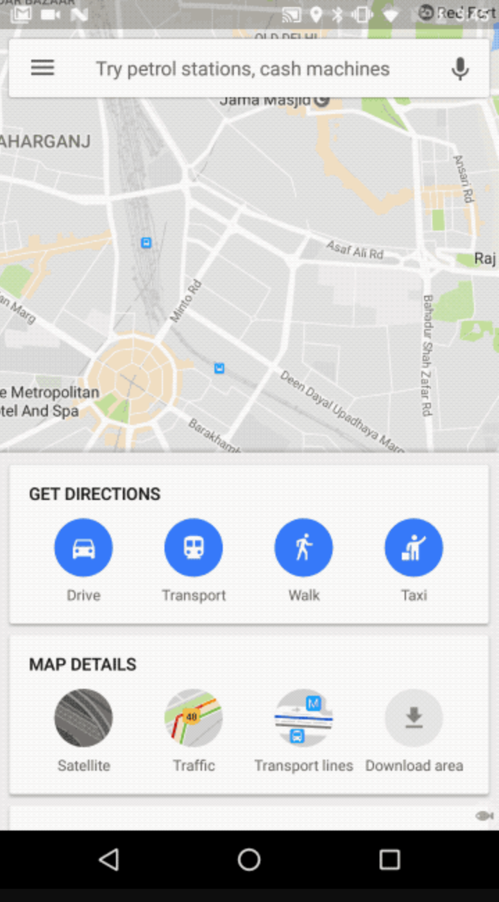 Google Maps for Android gets a redesigned home screen in India ... on