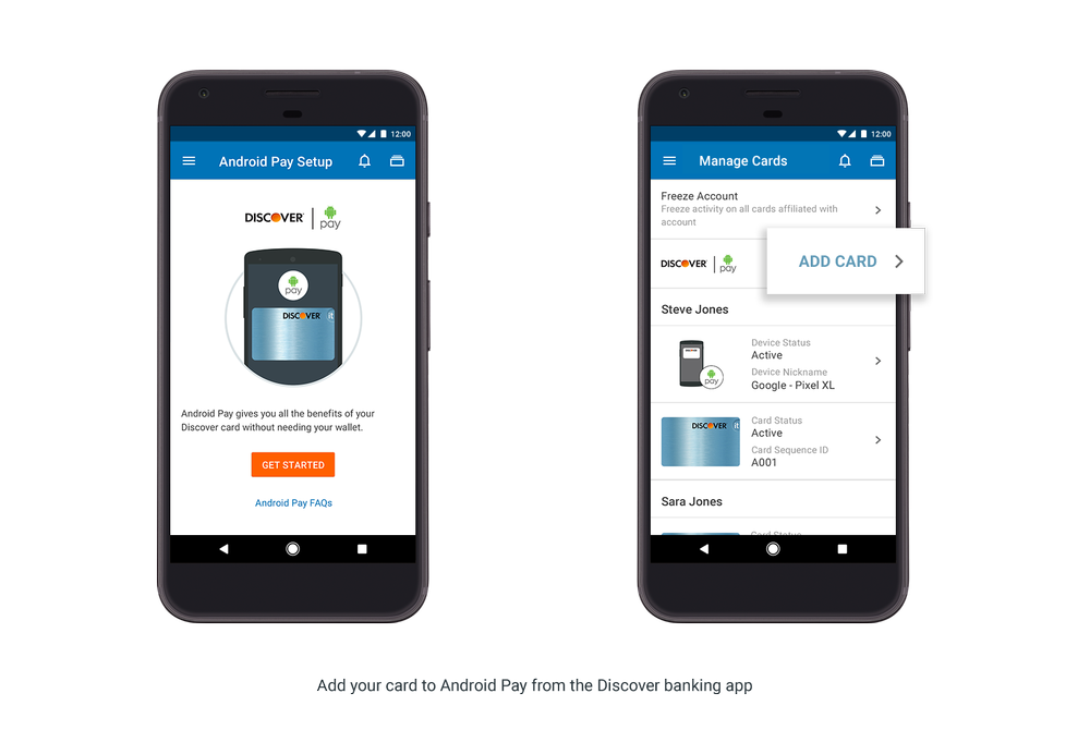 Android Pay Inside Bank App