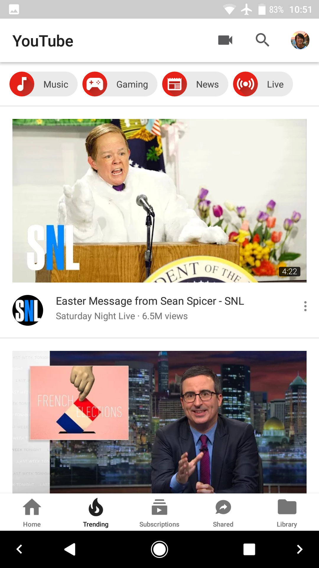 YouTube 12 41 53 hints at full screen pinch gesture