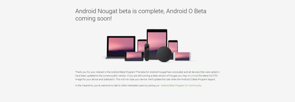 Android Beta Page