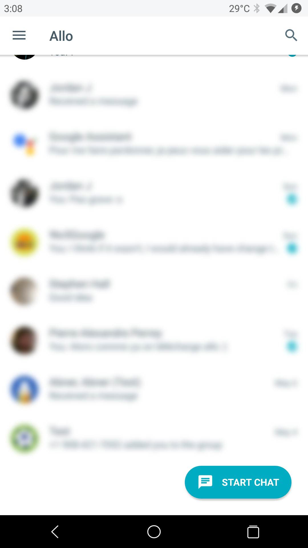 Google is testing 2 new 'New chat' buttons in Allo 11