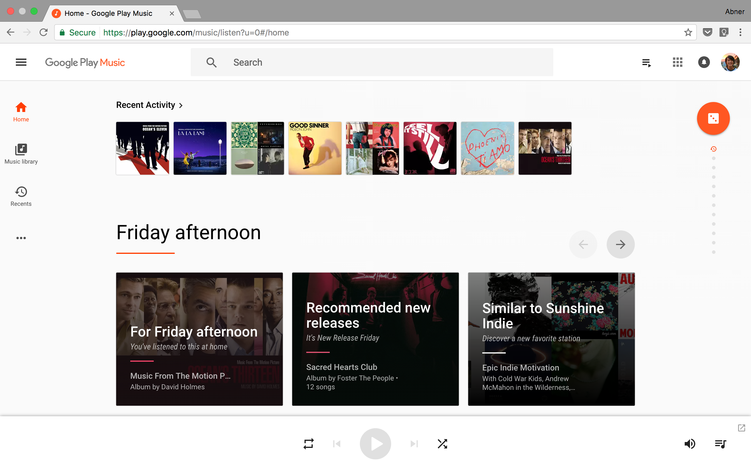 Google play music sign in website