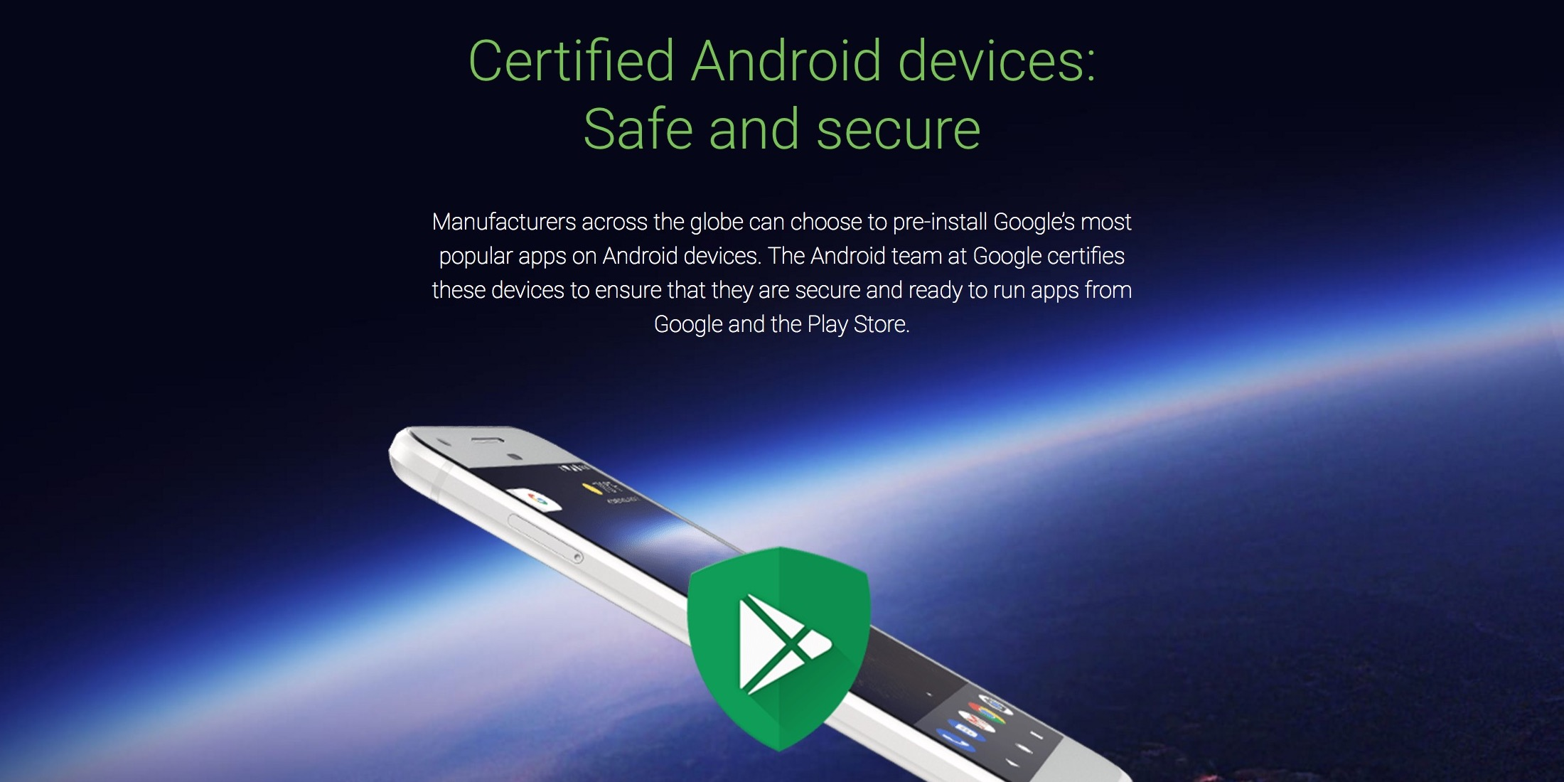 Google announces 'Certified Android devices,' Google Play Protect branding on packaging