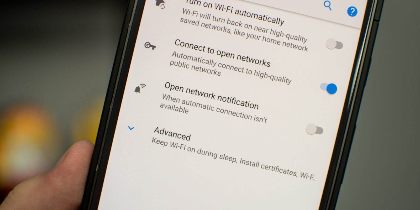 How to disable the 'open Wi-Fi network' notification on Android O