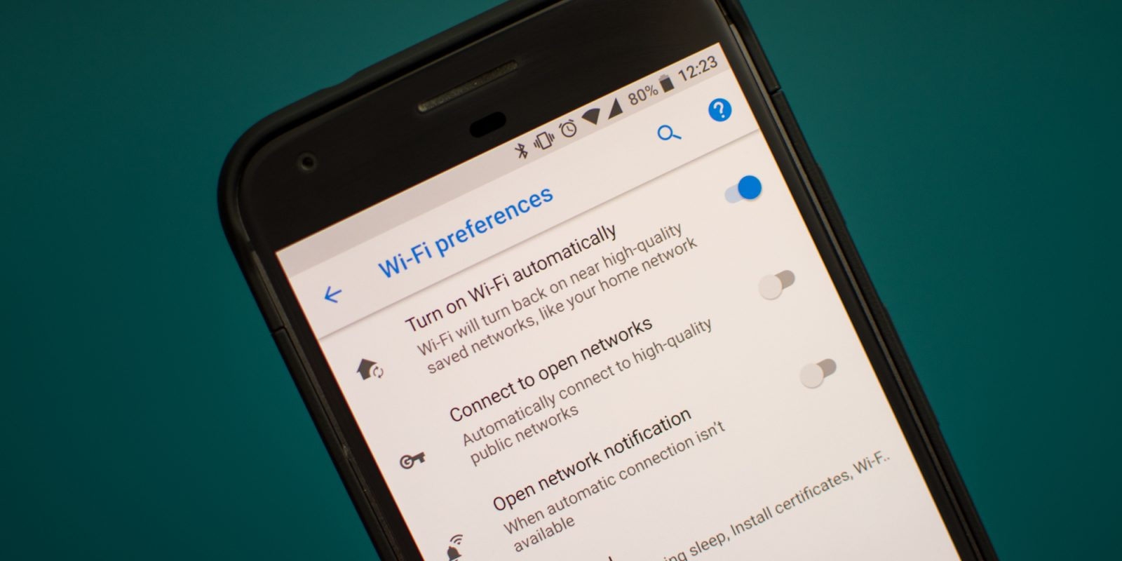 How to turn on Wi-Fi automatically in Android 8 0 Oreo