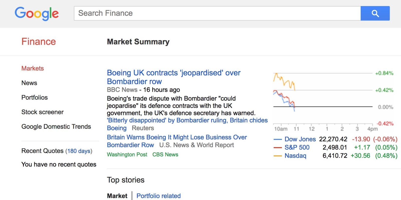 Google Finance's 'portfolio' feature will be retired in mid