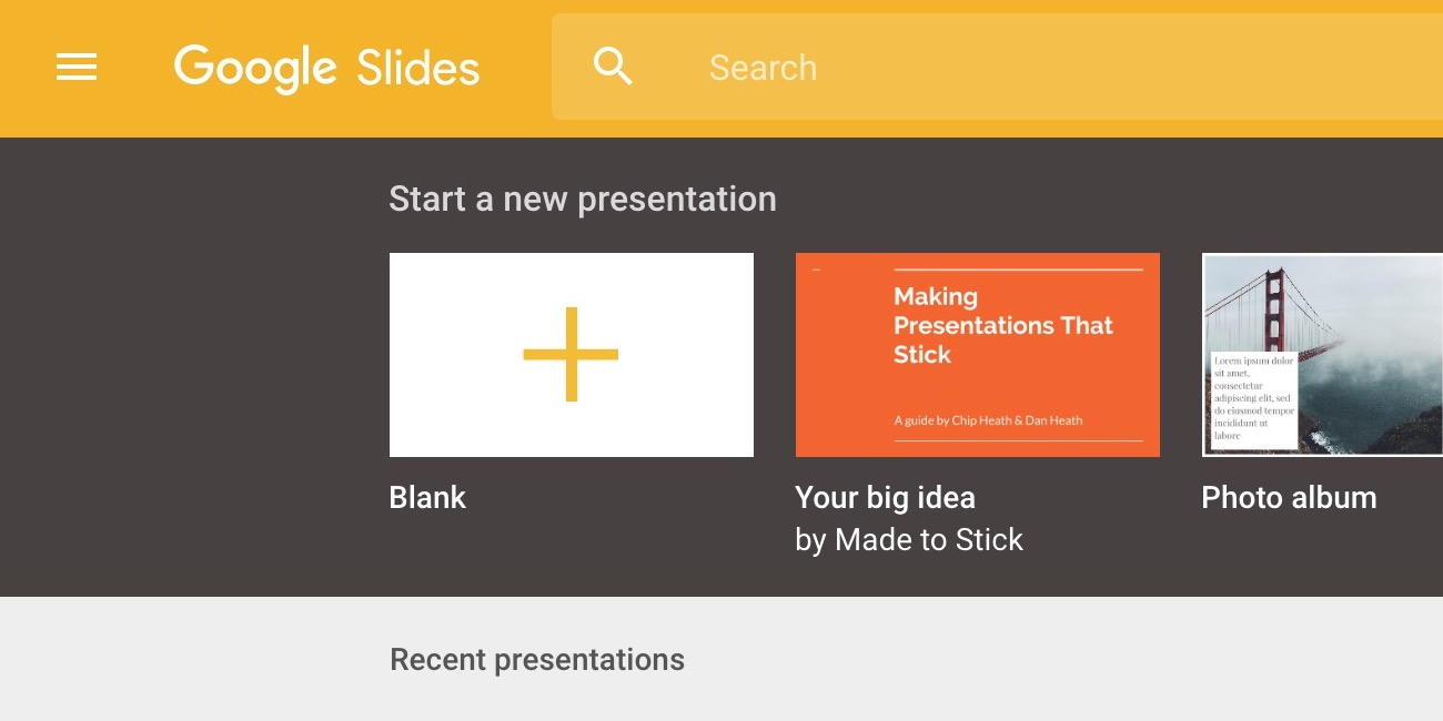 google slides updated with third party add ons google keep