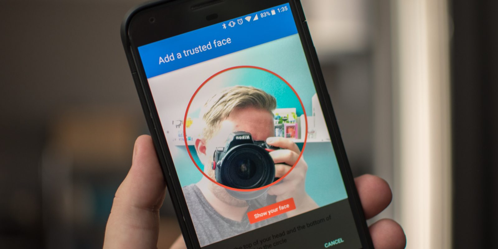 How to unlock your Android device with camera-based face