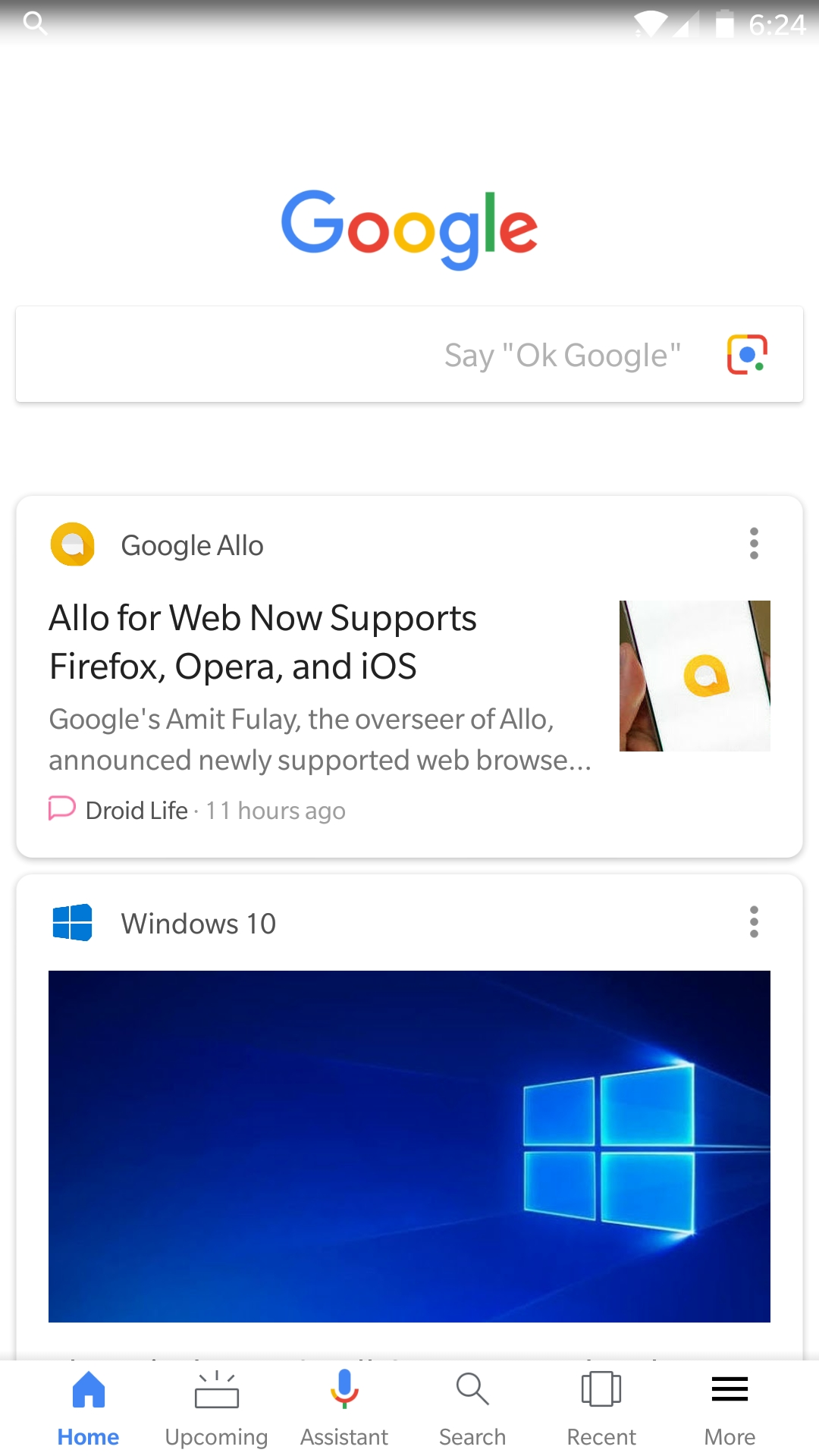 This is likely the Pixel 2's redesigned Google app w/ new