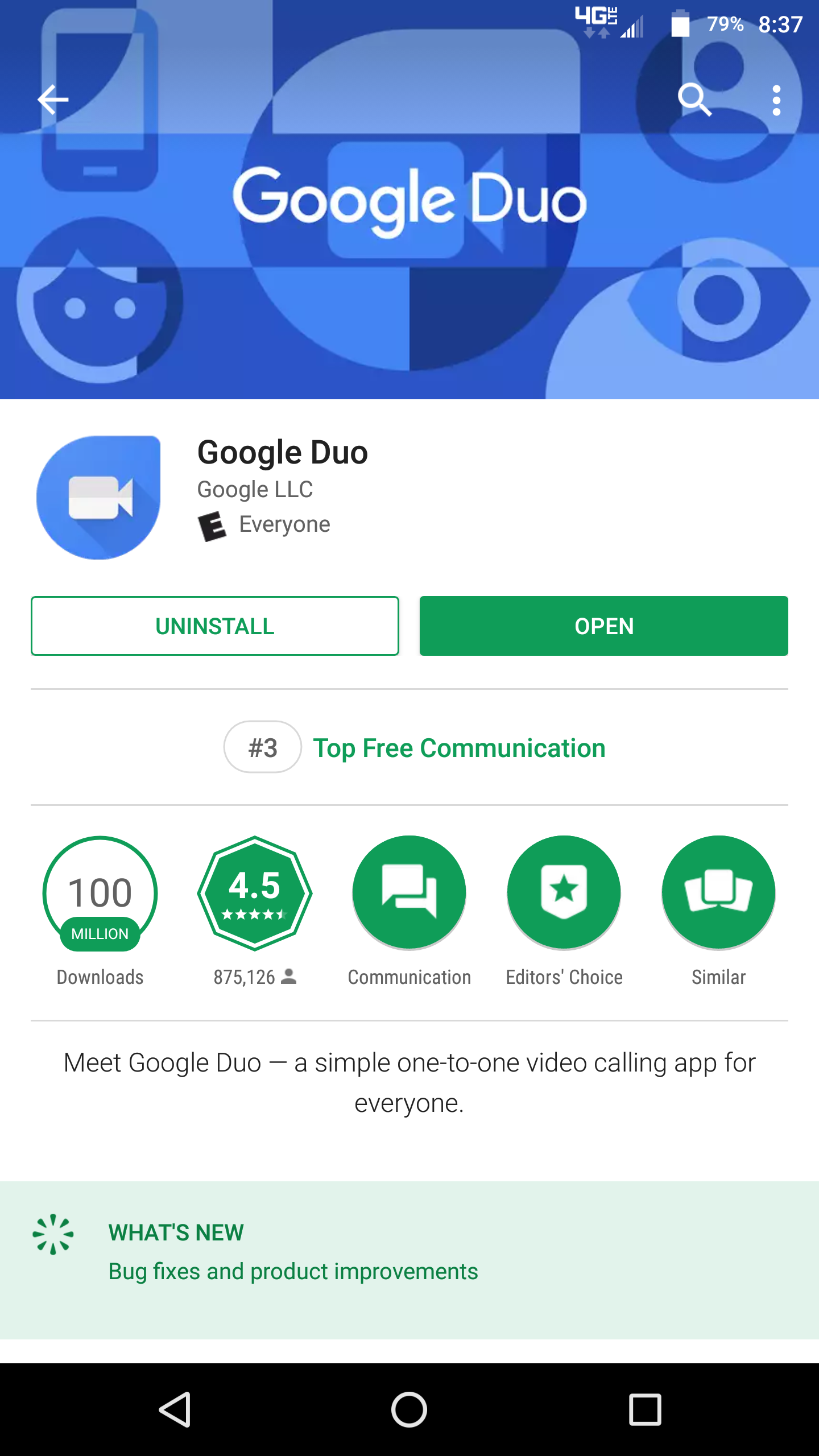 Google Play Tests Displaying Top