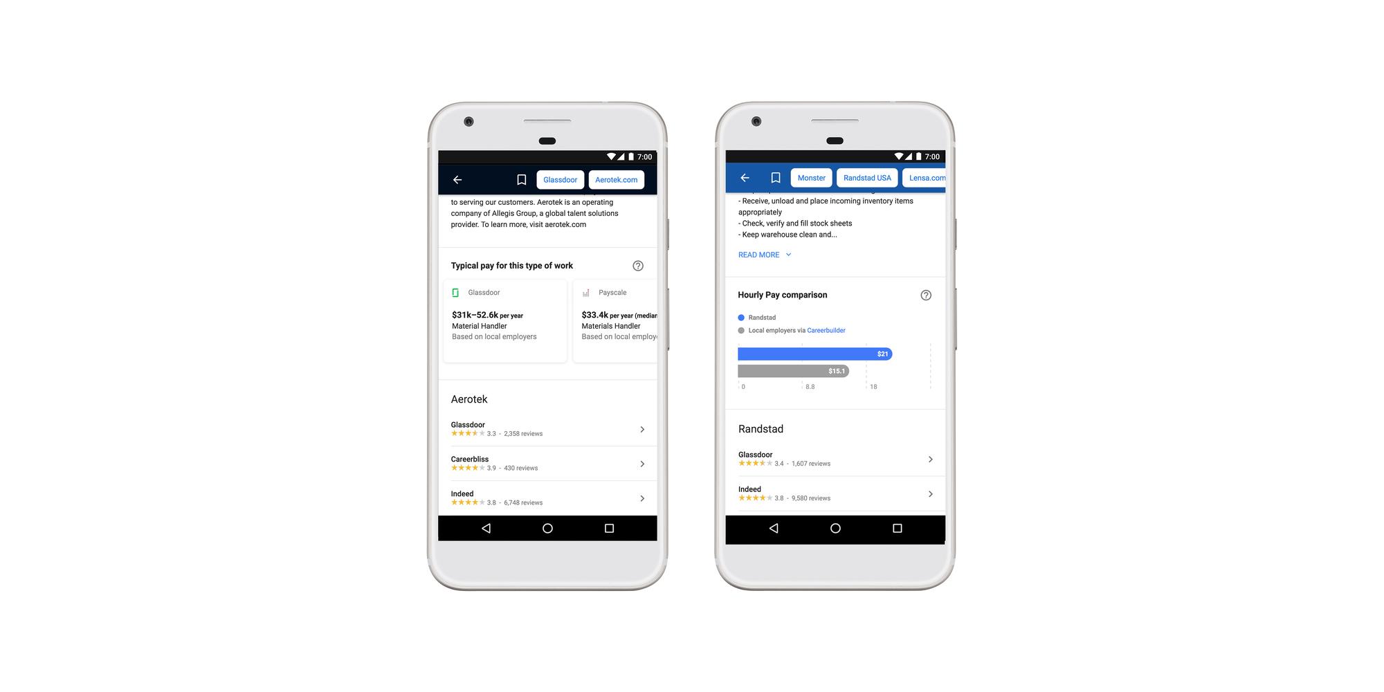 Google's job search platform now shows salaries, adds