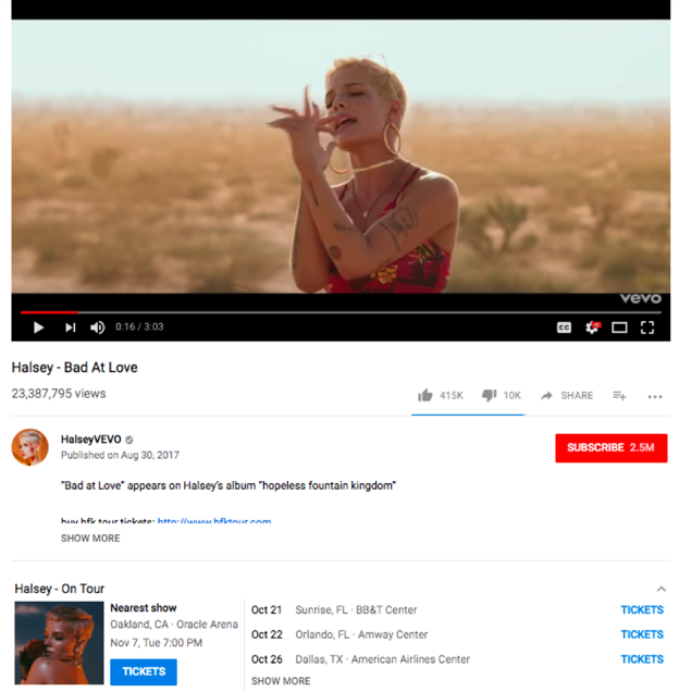 Update: Eventbrite] YouTube music videos adding concert listings