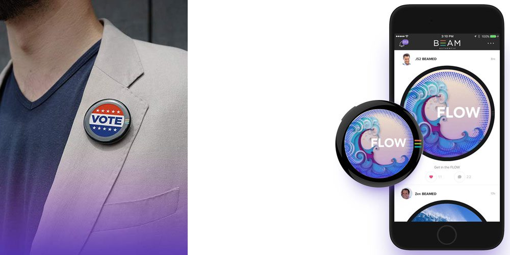 App-controlled wearable button offers OLED display and panic feature for $99