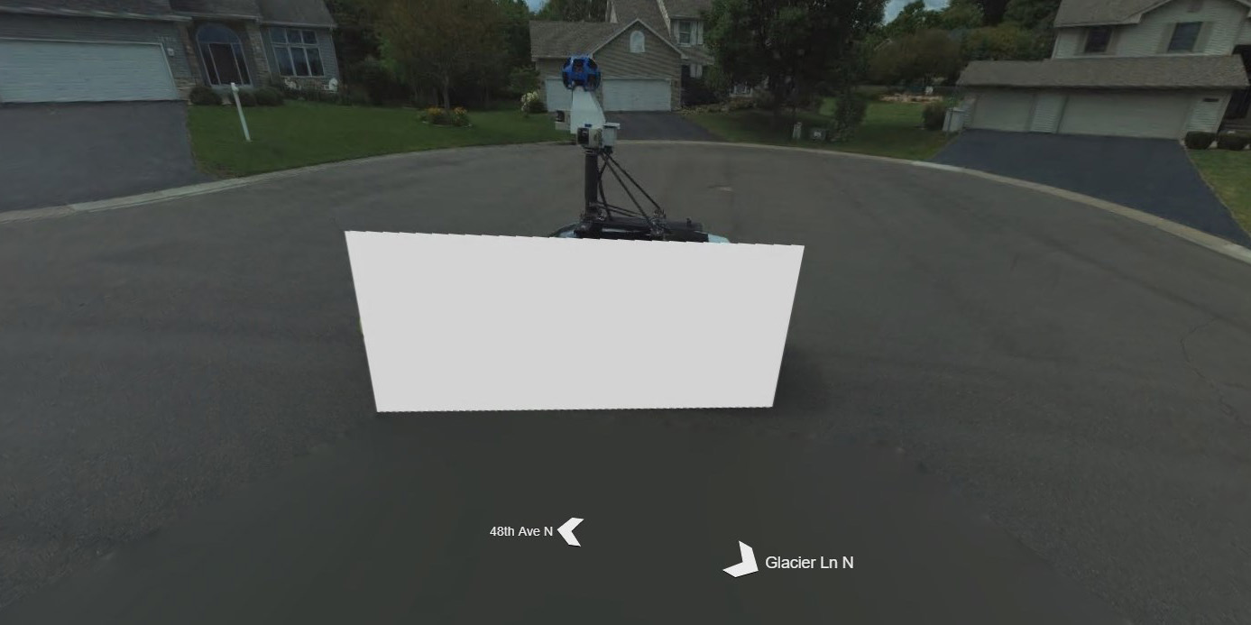 Google Maps Street View and Bing Street View cars cross paths, only ...