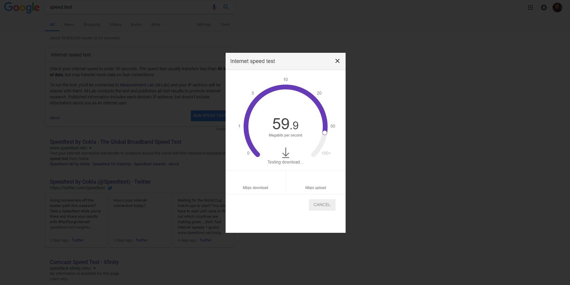 How to check your internet speed right from Google's homepage