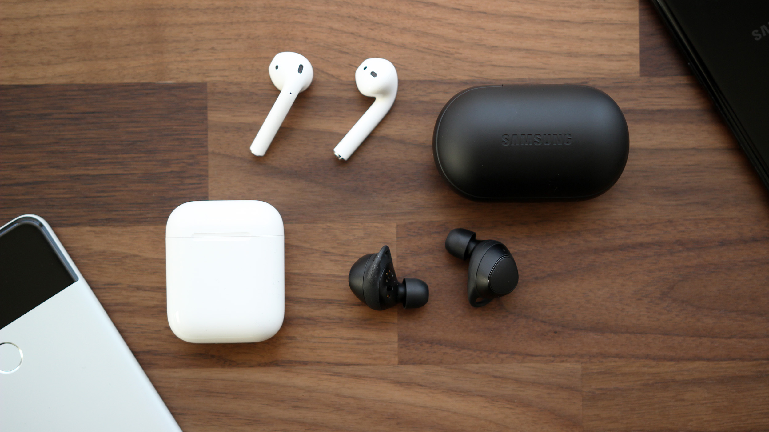 Image result for airpods, galaxy iconx