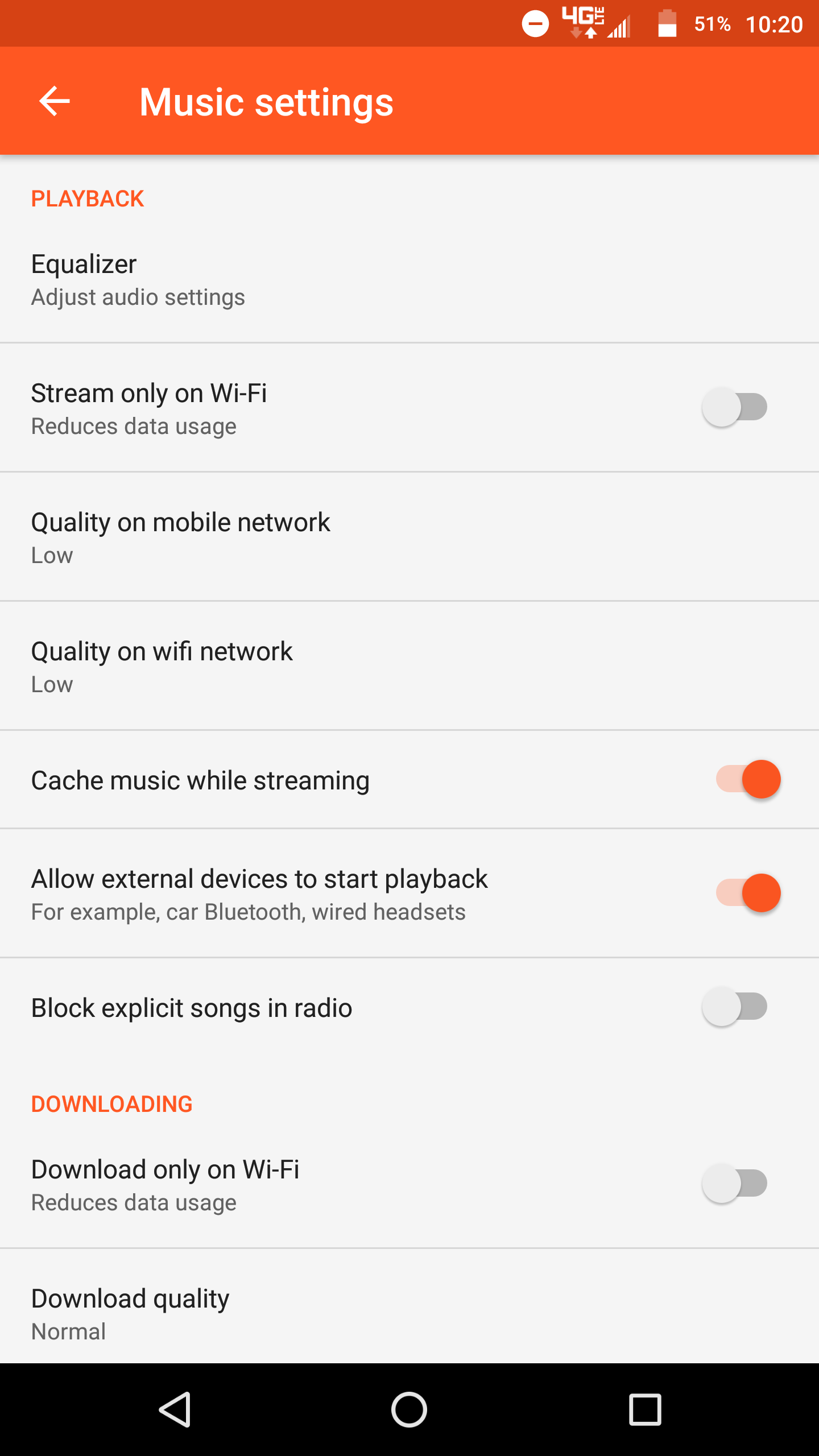 YouTube Music 2 21 gains Play Music's audio quality settings