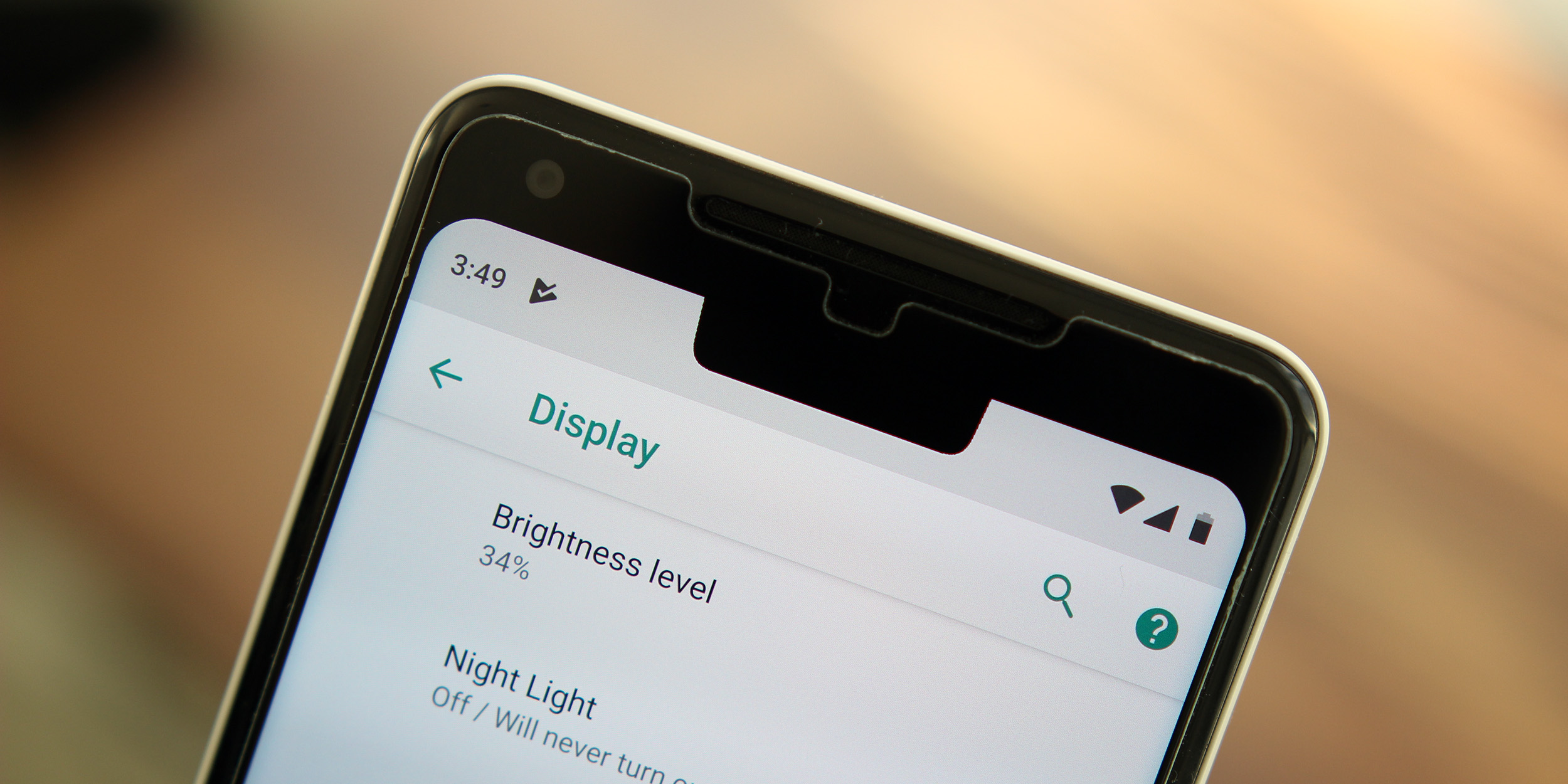 Android P DP1: Google moved the clock to the left side to